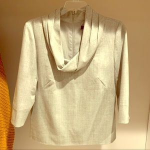 Wool Blouse with Cowl Neckline